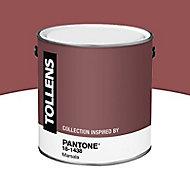 Peinture murs et boiseries Tollens Pantone 18-1438 marsala satin 2L