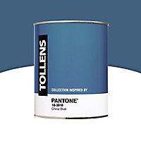 Peinture murs et boiseries Tollens Pantone 18-3918 china blue satin 1L