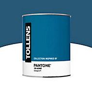 Peinture murs et boiseries Tollens Pantone 19-4342 seaport satin 1L