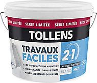 Peinture murs et plafonds 2 en 1 Tollens blanc mat 10L