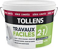 Peinture murs et plafonds 2 en 1 Tollens blanc satin 10L