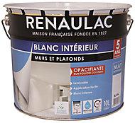 Peinture murs et plafonds bicouche blanc mat Renaulac 10L