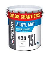 Peinture murs et plafonds Franbat blanc mat 15L