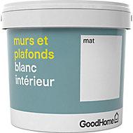 Peinture murs et plafonds GoodHome blanc mat 5L
