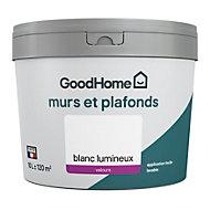 Peinture murs et plafonds GoodHome blanc velours 10L