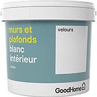 Peinture murs et plafonds GoodHome blanc velours 5L