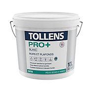 Peinture murs et plafonds Tollens pro+ satin 10L