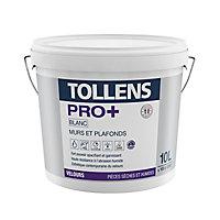 Peinture murs et plafonds Tollens pro+ velours 10L