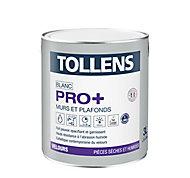 Peinture murs et plafonds Tollens pro+ velours 3L