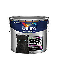 Peinture murs, plafonds et boiseries Dulux Valentine 98% monocouche blanc velours 10L
