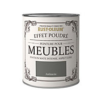 Peinture pour meubles Rust-Oleum anthracite effet poudré mat intense 0,75L