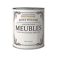 Peinture pour meubles Rust-Oleum blanc antique effet poudré mat intense 0,75L