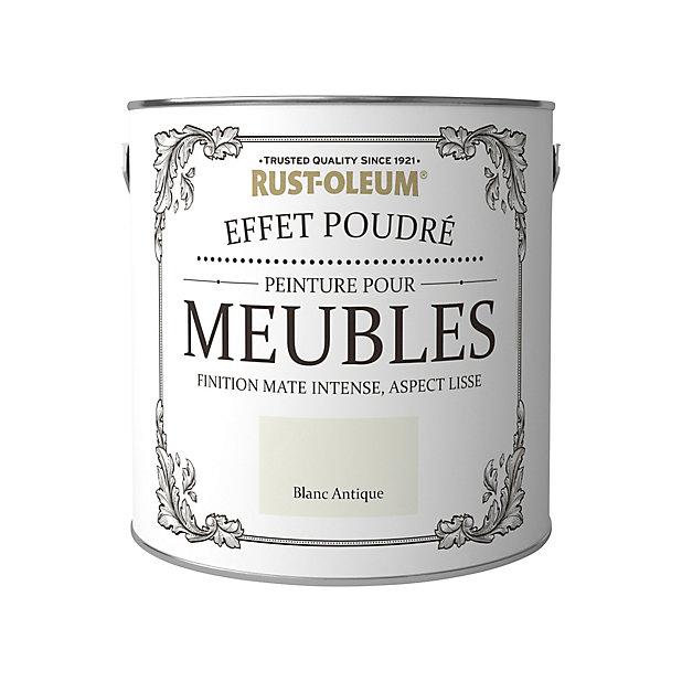Peinture Pour Meubles Rust Oleum Blanc Antique Effet Poudre Mat Intense 2 5l Castorama