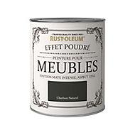 Peinture pour meubles Rust-Oleum charbon naturel effet poudré mat intense 0,75L