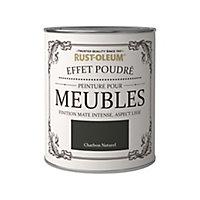 Peinture pour meubles Rust-Oleum charbon naturel effet poudré mat intense 125ml
