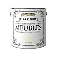 Peinture pour meubles Rust-Oleum craie blanche effet poudré mat intense 2,5L