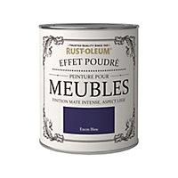 Peinture pour meubles Rust-Oleum encre bleu effet poudré mat intense 125ml
