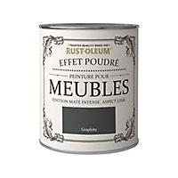 Peinture pour meubles Rust-Oleum graphite effet poudré mat intense 0,75L