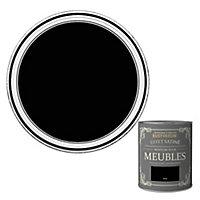 Peinture pour meubles Rust-Oleum noir effet poudré satin 125ml