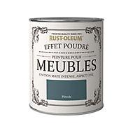 Peinture pour meubles Rust-Oleum pétrole effet poudré mat intense 0,75L