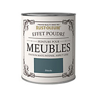 Peinture pour meubles Rust-Oleum pétrole effet poudré mat intense 125ml
