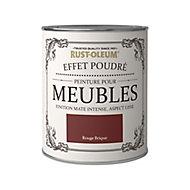 Peinture pour meubles Rust-Oleum rouge brique effet poudré mat intense 0,75L