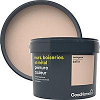 Peinture résistante murs, boiseries et métal GoodHome beige Cartagena satin 2,5L