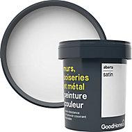 Peinture résistante murs, boiseries et métal GoodHome blanc Alberta satin 0,75L