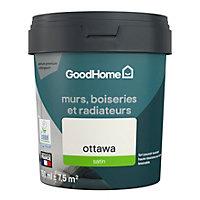 Peinture résistante murs, boiseries et métal GoodHome blanc Ottawa satin 0,75L