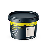 Peinture résistante murs boiseries et métal GoodHome blanc Ottawa satin 2,5L +20%