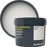 Peinture résistante murs, boiseries et métal GoodHome blanc Vancouver satin 2,5L
