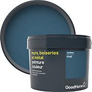 Peinture résistante murs, boiseries et métal GoodHome bleu Antibes mat 2,5L