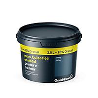 Peinture résistante murs boiseries et métal GoodHome bleu Antibes satin 2,5L +20%