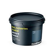 Peinture résistante murs, boiseries et métal GoodHome bleu Antibes satin 2,5L