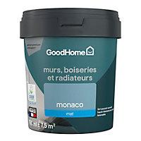 Peinture résistante murs, boiseries et métal GoodHome bleu Monaco mat 0,75L