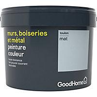 Peinture résistante murs, boiseries et métal GoodHome bleu Toulon mat 2,5L