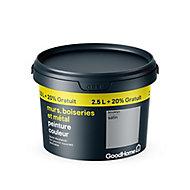 Peinture résistante murs boiseries et métal GoodHome gris Brooklyn satin 2,5L +20%