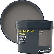 Peinture résistante murs, boiseries et métal GoodHome gris Chester satin 2,5L