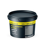 Peinture résistante murs boiseries et métal GoodHome gris Delaware satin 2,5L +20%