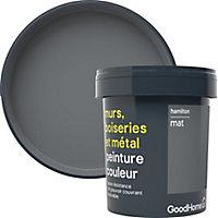Peinture résistante murs, boiseries et métal GoodHome gris Hamilton mat 0,75L