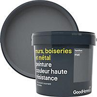 Peinture résistante murs, boiseries et métal GoodHome gris Hamilton mat 5L