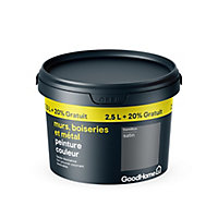 Peinture résistante murs boiseries et métal GoodHome gris Hamilton satin 2,5L +20%