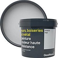Peinture résistante murs, boiseries et métal GoodHome gris Hamptons mat 5L