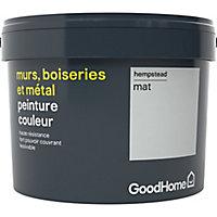 Peinture résistante murs, boiseries et métal GoodHome gris Hempstead mat 2,5L