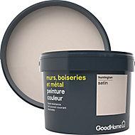 Peinture résistante murs, boiseries et métal GoodHome gris Huntington satin 2,5L