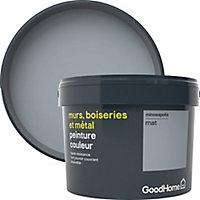 Peinture résistante murs, boiseries et métal GoodHome gris Minneaolis mat 2,5L
