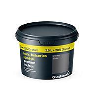 Peinture résistante murs boiseries et métal GoodHome gris Princeton satin 2,5L +20%