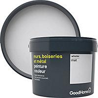 Peinture résistante murs, boiseries et métal GoodHome gris Whistler mat 2,5L