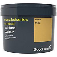 Peinture résistante murs, boiseries et métal GoodHome jaune Chueca mat 2,5L