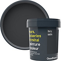 Peinture résistante murs, boiseries et métal GoodHome noir Liberty satin 0,75L